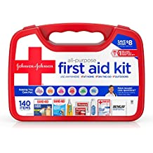 Johnson & Johnson All-Purpose Portable Emergency First Aid Kit for Home & Travel...