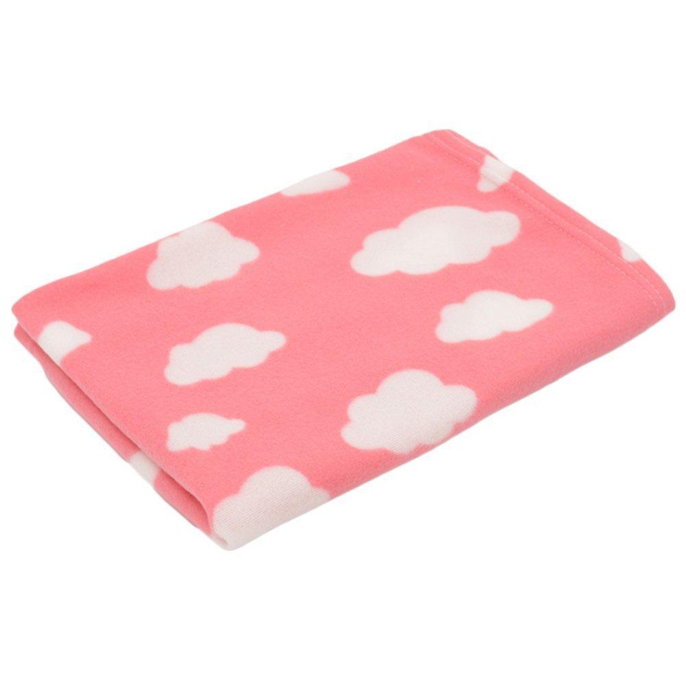 Xinjiener Manta de Perro Mascota Manta de Toalla Suave y cálida Manta de Tiro de Lana (Nubes de Color Rosa Claro): Amazon.es: Productos para mascotas