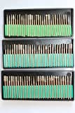 *** BIG COMBO Lot of 90 Piecies Tough Diamond Burs Burrs Rotary Tool Bits Rock Grinding Gem Stone 3 Different Grit Levels 40 / 80 /240 Fits for Dremel
