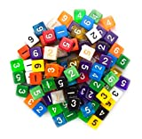 100+ Pack of Random D6 Polyhedral Dice in Multiple Colors By Wiz Dice
