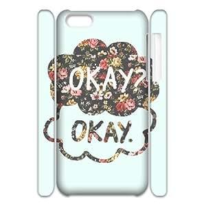 C-QUE Diy 3D Case Okay Okay for iPhone 5C