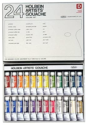 24 color set designer Holbein gouache (japan import) by Holbein industry
