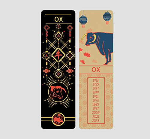 Chinese Zodiac Bookmark by Buttered Kat (Ox)