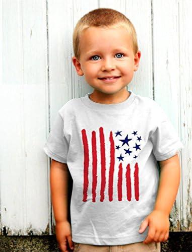 4th of July Baby Bodysuit Toddler Hoodie 5//6 Gray Cute American Flag USA TeeStars
