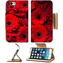 Liili Premium Apple iPhone 6 iPhone 6S Flip Pu Leather Wallet Case IMAGE ID 32692593 red gerber daisy