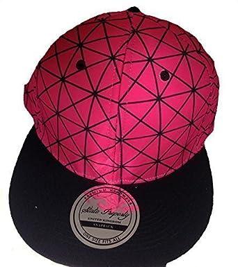 9f187cb3 Spider web snapback caps, flat peak hats, mens and ladies baseball Pink:  Amazon.co.uk: Clothing