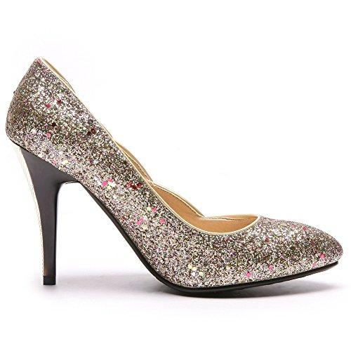 Chaussures Mariage Pompes Haut Coolcept De Mode En Femmes Talon Des Or SOtnZqnXw