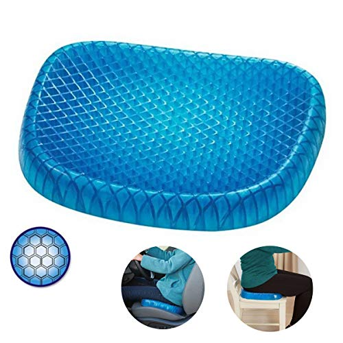 PREMEWISH Cooling Gel Seat Cushion with Non-slip cover