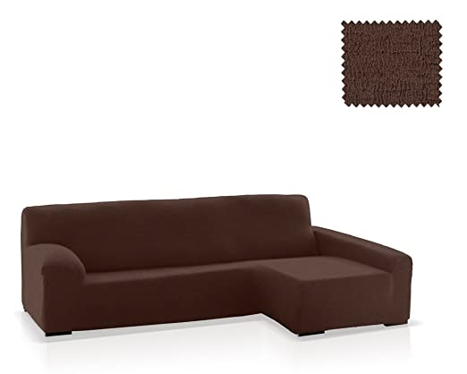 JM Textil Funda de sofá Chaise Longue Eneasis, Brazo Derecho, tamaño estándar (220-280 Cm.), Color 07