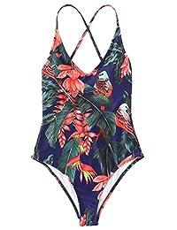 SOLYHUX Bikini Sexy para Mujer, una Pieza, con cordón, Espalda y Espalda