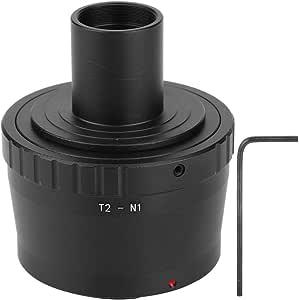 Oumij Metal Adapter Ring,Eyepiece Adapter Microscope Eyepiece Adapter Ring,23.2mm T Mount Microscope Eyepiece for Nikon N1 Mounts Mirrorless Camera