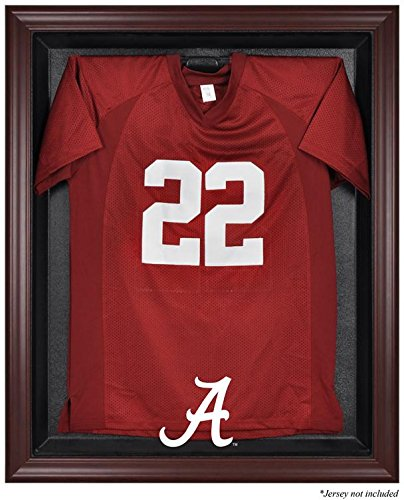 Alabama Crimson Tide Mahogany Framed Logo Jersey Display Case - Fanatics Authentic Certified - College Jersey Logo Display Cases by Sports Memorabilia