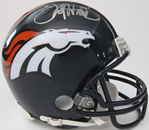 Autographed Football Broncos Pro Denver (Terrell Davis, Denver Broncos, Signed, Autographed, Mini Football Helmet, a COA with the Proof Photo of Terrell Signing Will Be Included)