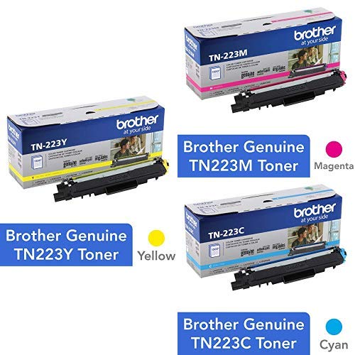 Toner Original BROTHER Normal Capacidad Set - Cyan Magenta y Yellow Color (TN-223C TN-223M TN-223Y)