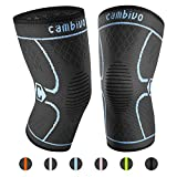 CAMBIVO 2 Pack Knee Brace, Knee Compression Sleeve Support for...