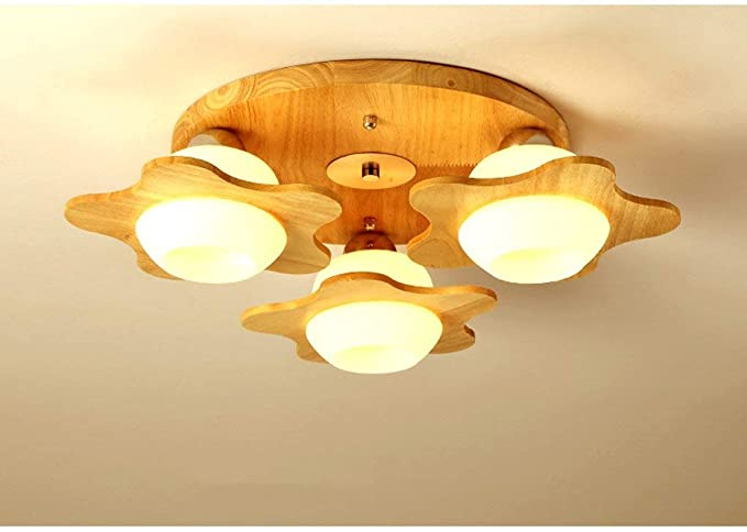 Techo Led, techo de madera nórdica de la habitación de los ...