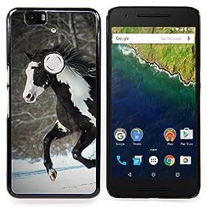 - Horse Colorful Indian White Brown Winter Free - Caja del tel????fono delgado Guardia Armor- For Huawei Nexus 6P Devil Case