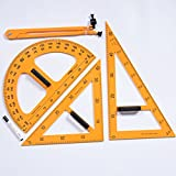 Studyset Triangle Compasses Protractor Miter Framing Measurement Ruler Multifunction Education School Tool