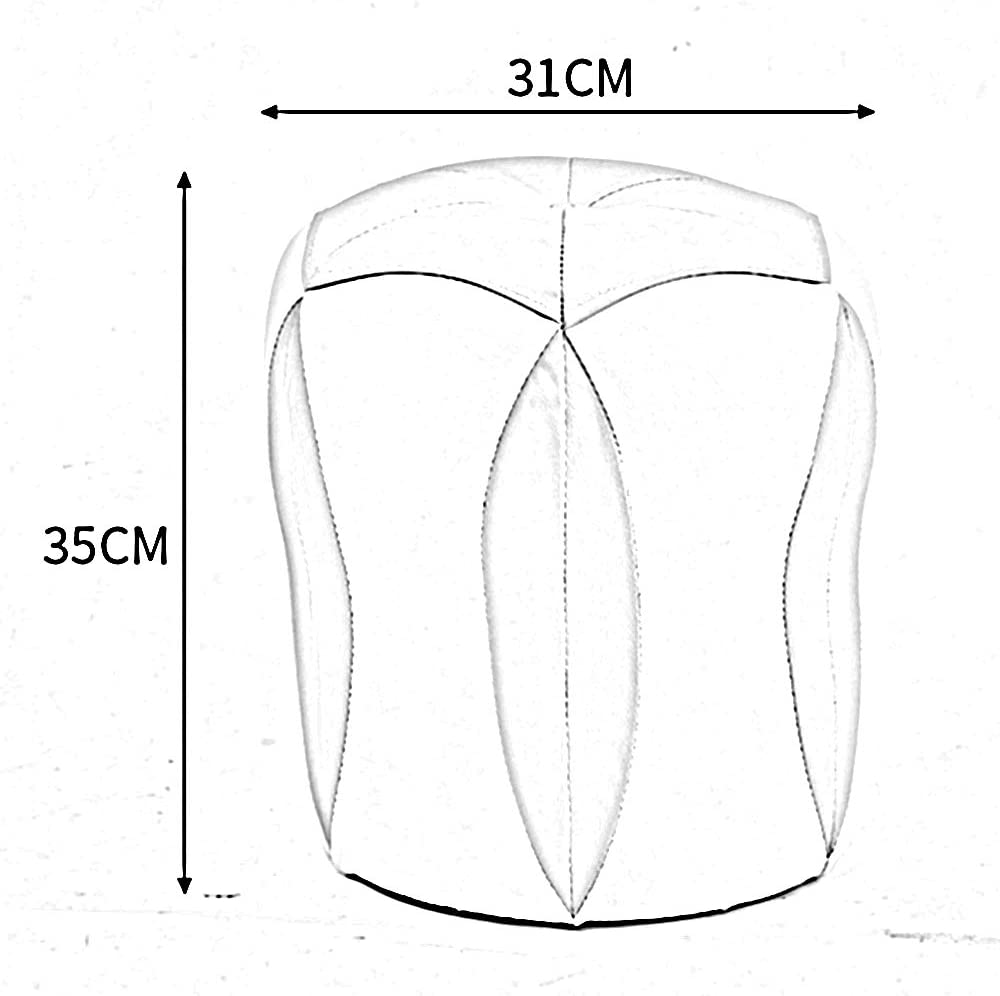 Unbekannt Stuhl Kleiner Hocker Kreativer PU-Hocker Sofa-Hocker Fußstütze und Schachtelhocker 31 * 35cm (Farbe : Lila) Lila