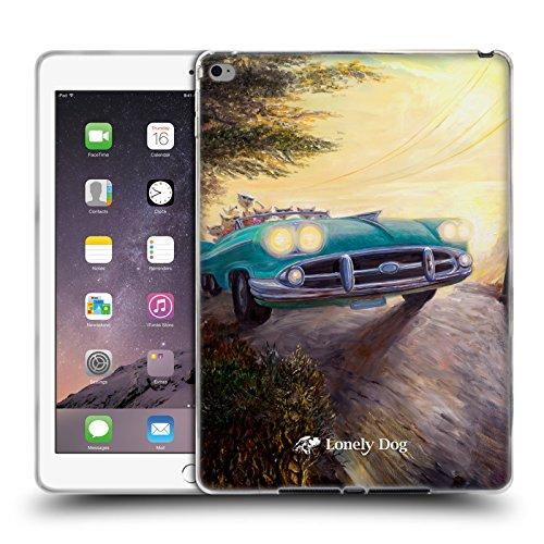 Official Lonely Dog Feline Fender Bender Right Life Soft Gel Case for Apple iPad Air 2