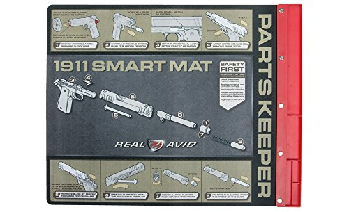 Real Avid 1911 Smart Mat- 19-inch by 16-inch Gun Cleaning Mat with Illustrated 1911 Takedown Instructions and Magnetic Parts Keeper