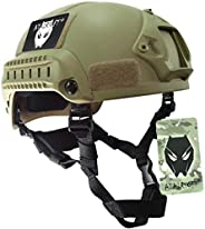 ATAIRSOFT Tactical Airsoft Paintball MICH 2001 Helmet with Side Rail & NVG M