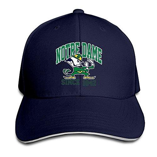 BOoottty Notre Dame Fighting Irish ND Teams Logo Flex Baseball Cap Navy ()
