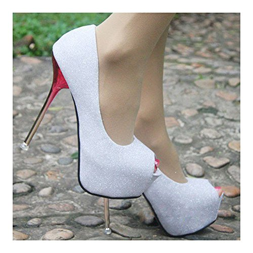 Peep Super Wedding white 37 Sexy Shoes Thin High Heel toe UOqwgnxS