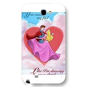 Customized White Hard Plastic Disney Cartoon sleeping beauty Samsung Galaxy Note 2 Case