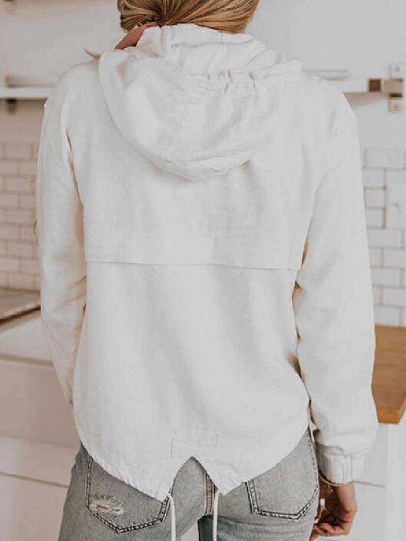 SHOWNO Women Solid Fall /& Winter Loose Fit Long Sleeve Pullover Hooded Sweatshirt Top