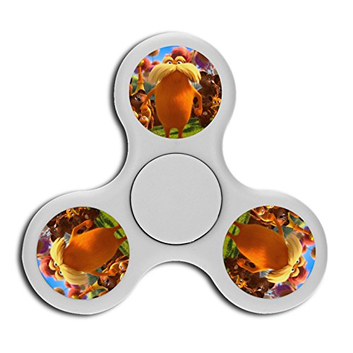 Fingertip Spinners Print With Lorax The Logo Funny Gift 3 5 Mins Cheap Deep Thought For Adhd Children Adults Boys Girls White