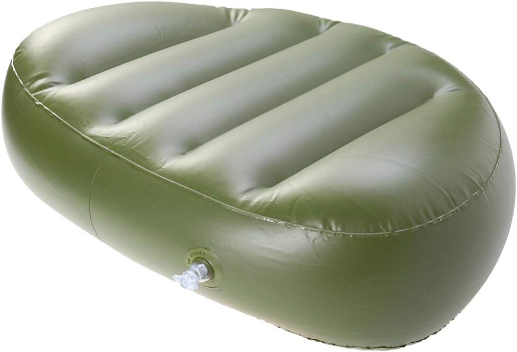 Kayak Canoe Boat Seat Cushion Comfortable Waterproof Fishing Green Air PVC Inflatable Seat Pad Cushion for Outdoor Camping T-best Kayak Seat Pad