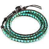 MOWOM Layered Bracelets for Women Men Boys Girls