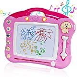 Toch Magnetic Drawing Board, Musical Color Magna Doodle Writing Drawing Board with Light and Music...