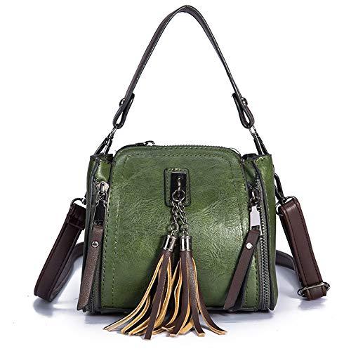 Da Di Borsa Design Nappa A In Mini Spalla Donna Green Pelle Vintage Viaggio Lijinjing xqg8tWwdn8