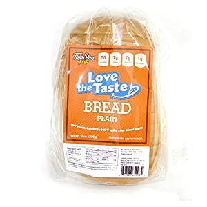 ThinSlim Foods 50 Calorie, 1g Net Carb, Love-The-Taste Low Carb Bread Plain