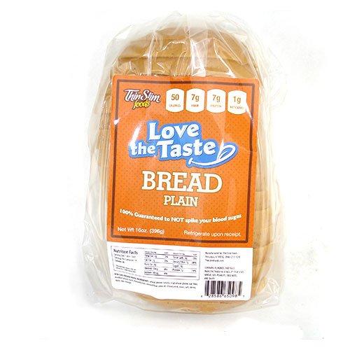 ThinSlim Foods 50 Calorie, 1g Net Carb, Love-The-Taste Low Carb Bread - Low Carb No Sugar