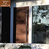 Pull Push 70'' Handles for Entrance Entry Front Door, Interior and Exterior, Mirror Finish, Storefront Door, Commercial Entry Gate and Office Door, Ladder Style