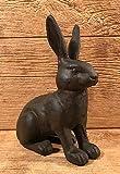 Cast Iron Rabbit Door Stop 9 1/4'' tall Home & Garden Decor Supplies 0184S-0086 by YourLuckyDecor