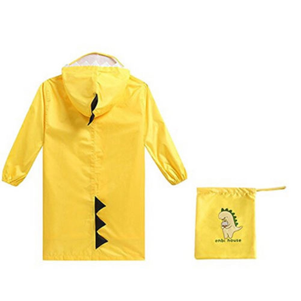 M Lily-li Children Waterproof Dionsaur Cartoon Rain Coat Yellow Rainwear,Necessities Of The Rainy Season