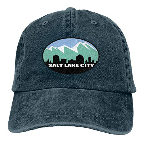 Flag of Salt Lake City Classic Baseball Cap Trucker Hat Adult Unisex Adjustable Dad Hat Navy -