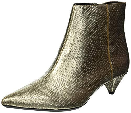 Calvin Klein Women's Larissa Ankle Boot, Soft Gold, 8 Medium US