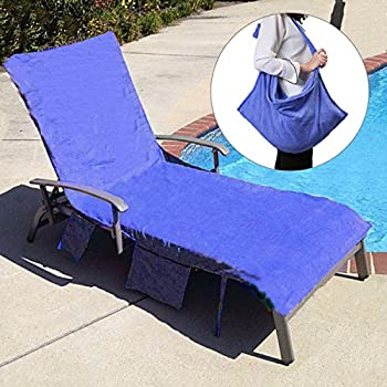 Genial KING DO WAY Lounge Chair Beach Towel Cover Microfiber Pool Lounge Chair  Cover With Pockets Holidays