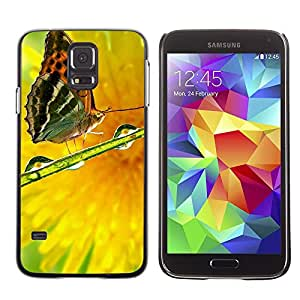 LECELL -- Funda protectora / Cubierta / Piel For Samsung Galaxy S5 SM-G900 -- Plant Nature Forrest Flower 82 --