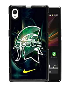 Michigan State Spartans 01 Black Sony Xperia Z1 Screen Cover Case Custom and Popular Design