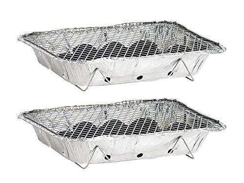 511hH0m6j3L infactory Einweggrill: Handliche Einweg-Grills mit Kohle und Anzünder, 6er-Set (Minigrill)