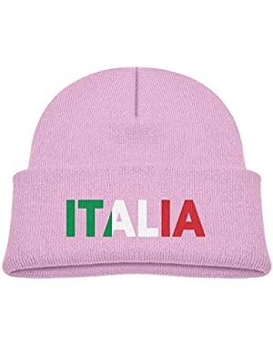 da3e756aef9 Kids Knitted Beanies Hat Italia Italy Italian Flag Winter Hat Knitted Skull  Cap for Boys Girls