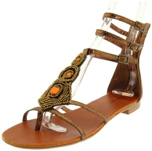 Rampage Women's Germain Ankle-Strap Sandal,Bronze,6 M US