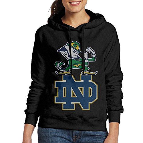 Women's Notre Dame Fighting Irish Cotton Black Pullover Hoodie