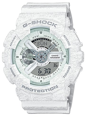 Casio G-Shock Heathered White Dial Resin Quartz Male Watch GA110HT-7A